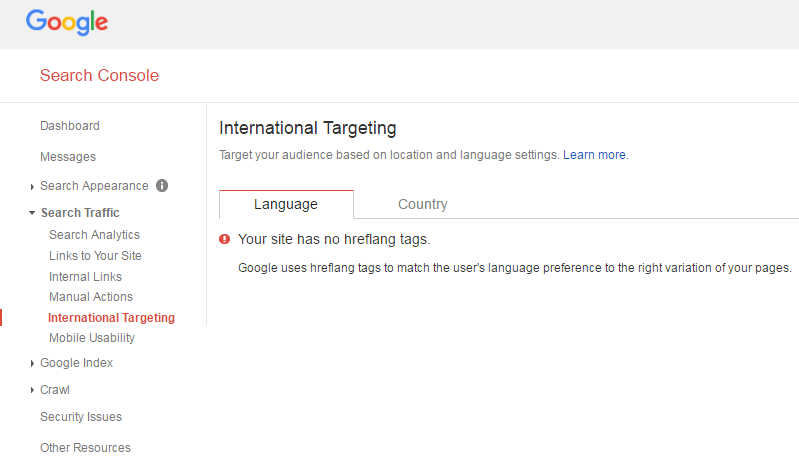 آموزش بخش International Targeting